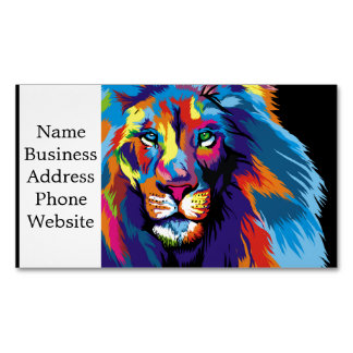 Colorful lion 	Magnetic business card