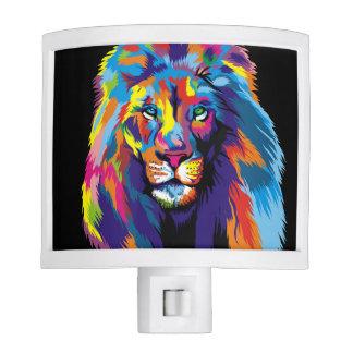 Colorful lion night lites
