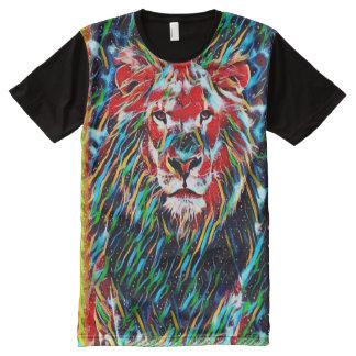 Colorful Lion Psychedelic Wildlife Fantasy Art