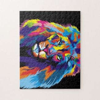 Colorful lion puzzle