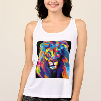 Colorful lion tank top