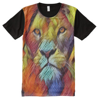 Colorful Lion Texture Art
