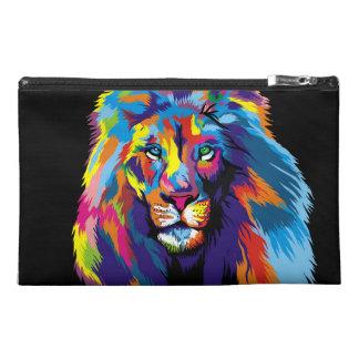 Colorful lion travel accessory bag