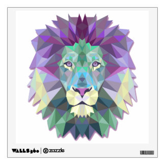 Colorful Lion Wall Decal