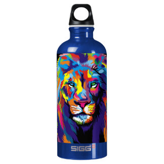Colorful lion water bottle