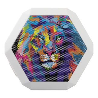 Colorful lion white bluetooth speaker