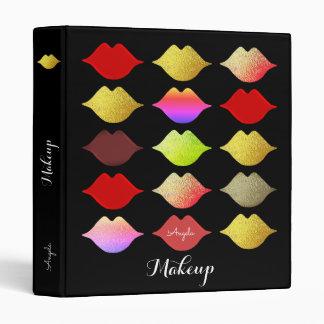 colorful lips binder . makeup artist beauty black