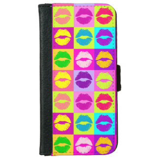 Colorful lips.KISSES iPhone 6 Wallet Case