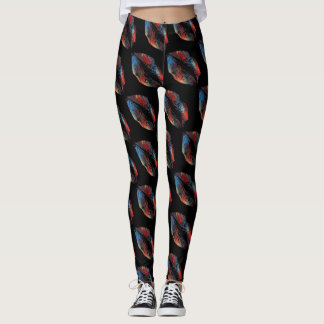 Colorful Lips Modern Black #7 Leggings