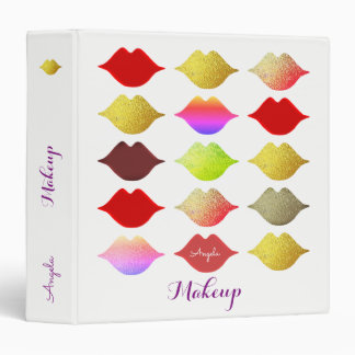 colorful lips on beauty binder . makeup artist