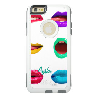 Colorful lips personalized OtterBox iPhone 6/6s plus case