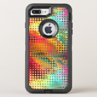 Colorful Liquid Mirco Dots Abstract Pattern OtterBox Defender iPhone 8 Plus/7 Plus Case