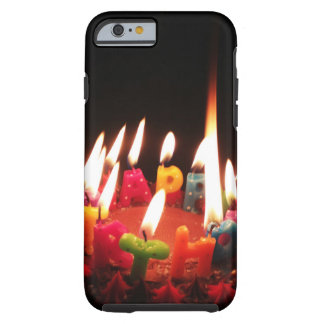 "Colorful, LitC ""Happy Birthday"" Candles, Dark Room Tough iPhone 6 Case"