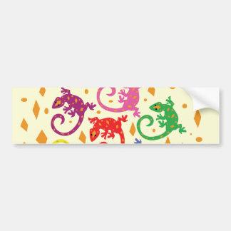 Colorful Lizards Bumper Sticker