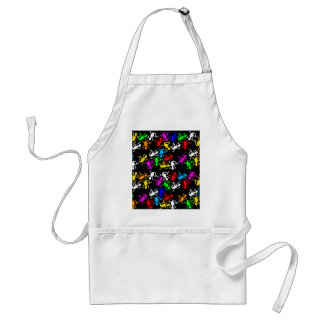 Colorful lizards pattern standard apron