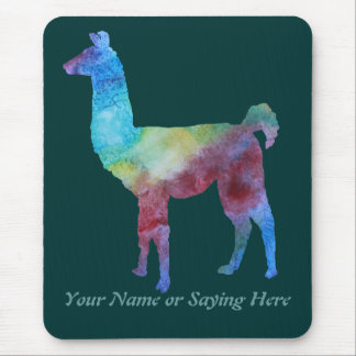 Colorful Llamas Mouse Pad