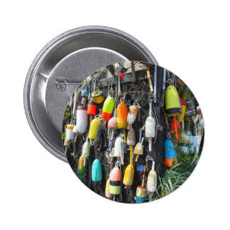 Colorful Lobster Buoys 2 Inch Round Button