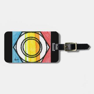 Colorful Lock nut luggage tag
