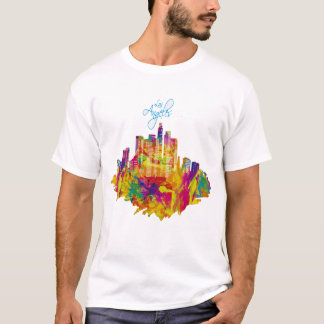 Colorful Los Angelos Skyline T-Shirt