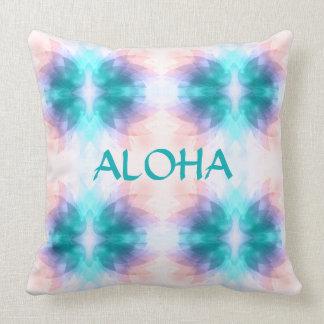 Colorful Lotus Flower Aloha Throw Pillow