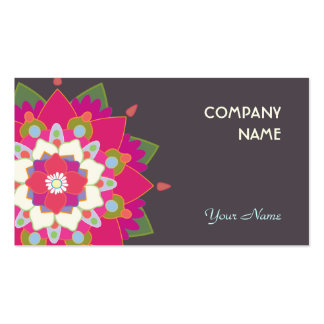 Colorful Lotus Mandala Health and Wellness Business Card