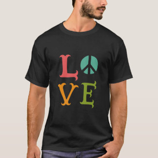 Colorful love and peace background men's t-shirt