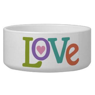 Colorful Love pet bowls
