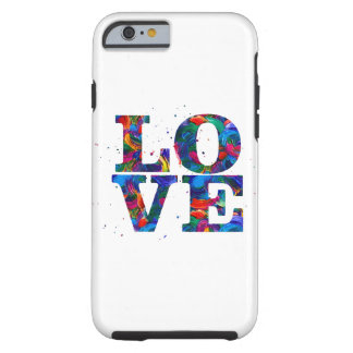 Colorful  Love Tough iPhone 6 Case