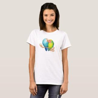 Colorful Lovebirds Tshirt
