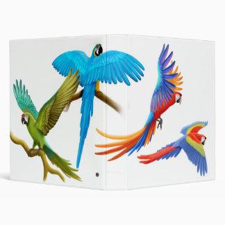 Colorful Macaws Binder