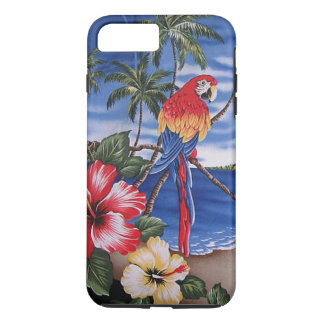 Colorful Macaws Hawaiian Beach Summer Scene iPhone 8 Plus/7 Plus Case