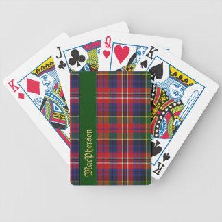 Colorful MacPherson Tartan Plaid Playing Cards