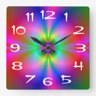 Colorful Magnetosphere Wall Clock