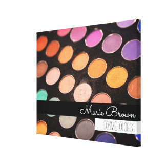 Colorful Makeup Photography Custom Name Canvas Print