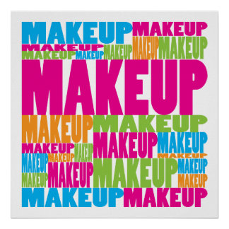 Colorful Makeup Poster