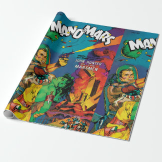 Colorful Man O' Mars Vintage 50s Comic Book Cover Wrapping Paper