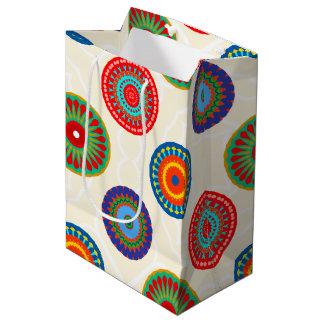 Colorful Mandala Bright Print Medium Gift Bag