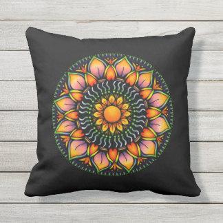 Colorful Mandala Design Outdoor Pillow