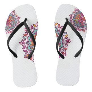Colorful Mandala Flip Flops