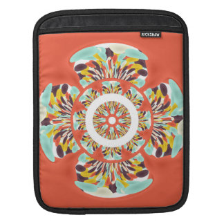 Colorful mandala iPad sleeve