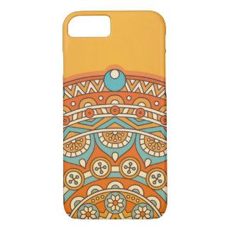 Colorful mandala orange iPhone 8/7 case