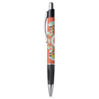 Colorful mandala pen