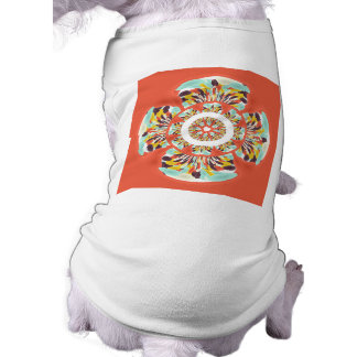 Colorful mandala pet t shirt