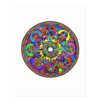 Colorful Mandala Postcard