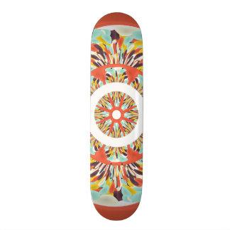 Colorful mandala skate board deck