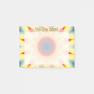Colorful Mandala Star Post-it Notes
