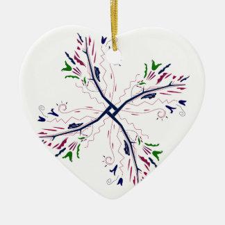 Colorful mandala vanilla ceramic ornament