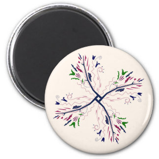 Colorful mandala vanilla magnet