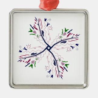 Colorful mandala vanilla metal ornament