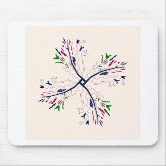 Colorful mandala vanilla mouse pad